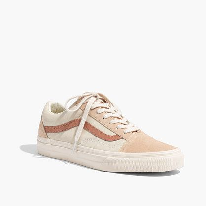 ad43e756d41 Madewell x Vans® Unisex Old Skool Lace-Up Sneakers in Camel Colorblock