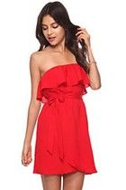 Casual Dress: womens dresses, knit dresses, strapless dresses   Forever 21  AVAILABLE IN RED AND PURPLE