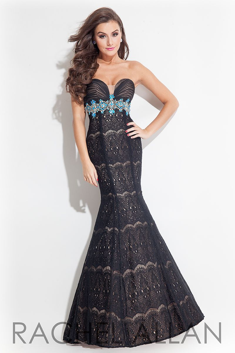 Rachel Allan 7138 - Lace mermaid gown with sweetheart neck and ...