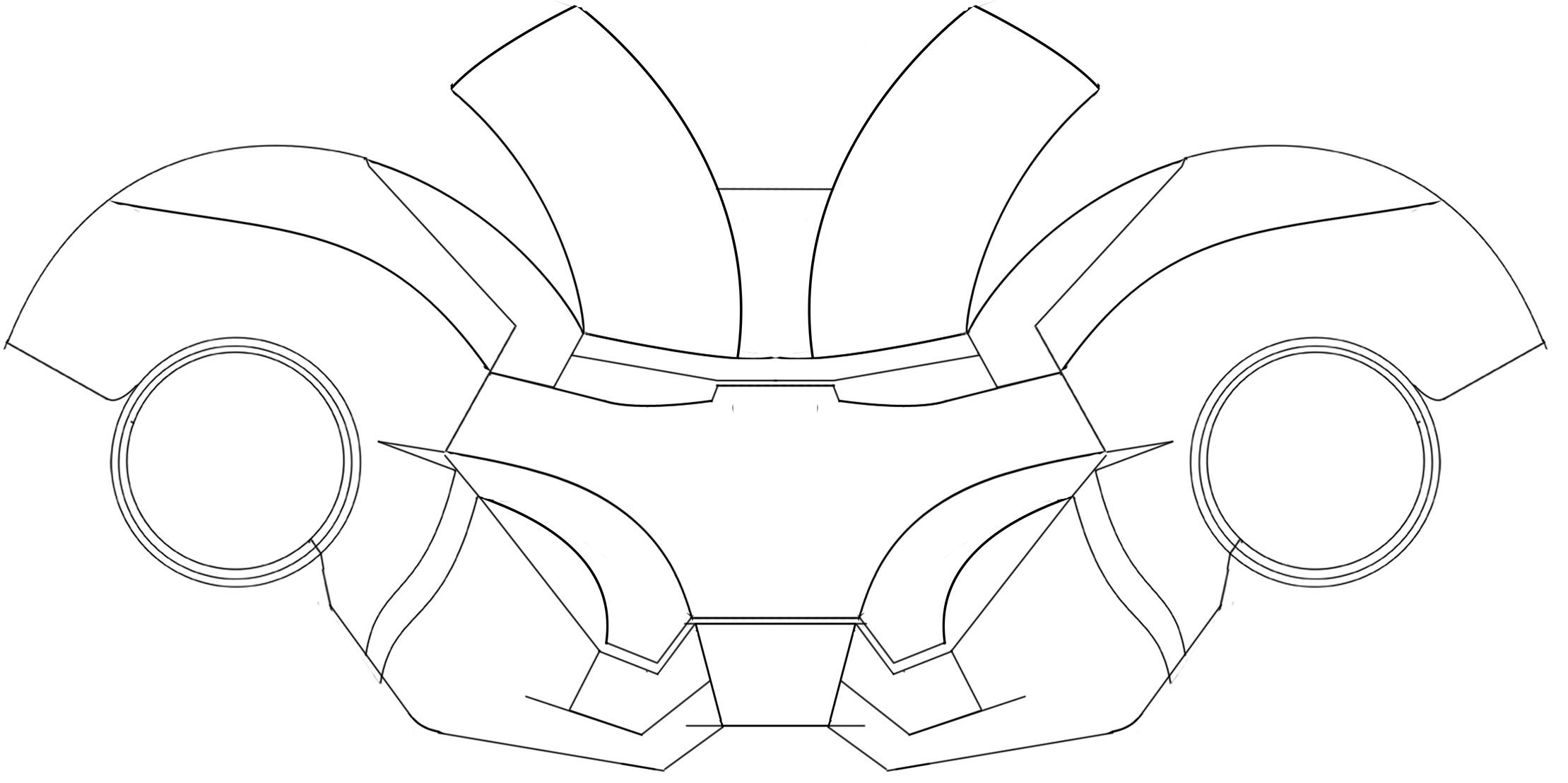 Ironman Helmet Template Iron Man Helmet Iron Man Mask Iron Man Fan Art