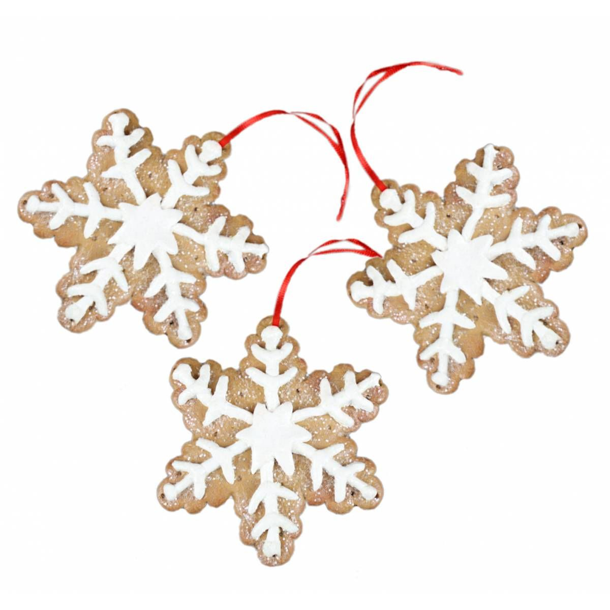 gingerbread decorations | Home › Gisela Graham Gingerbread Snowflake Decorations