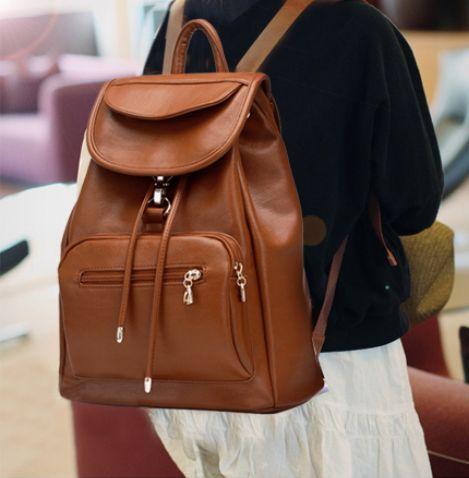 Vintage Brown Leather Backpack | leather_backpack | Pinterest ...