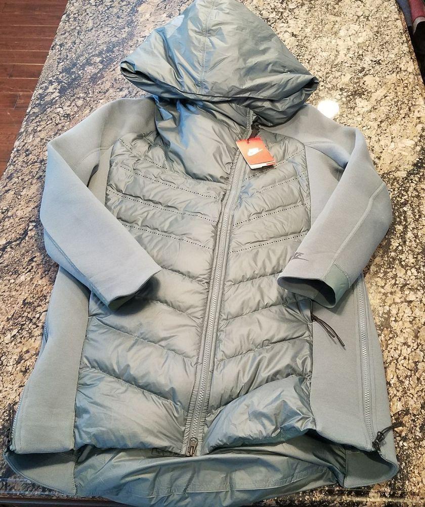 0cefa05dd4da Nike Sportswear Tech Fleece AeroLoft Women s Down Parka Green 804976-392  MEDIUM  Nike  Parka