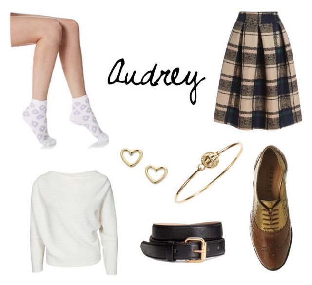 """""""Audrey"""" by angela-reydet ❤ liked on Polyvore featuring H&M, Marc by Marc Jacobs, Office and Ellen Tracy"""
