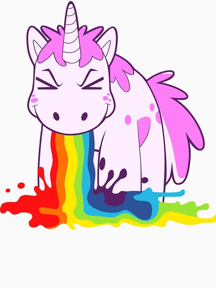 Unicorn I Puke Rainbows Slim Fit T Shirt Unicorn Drawing