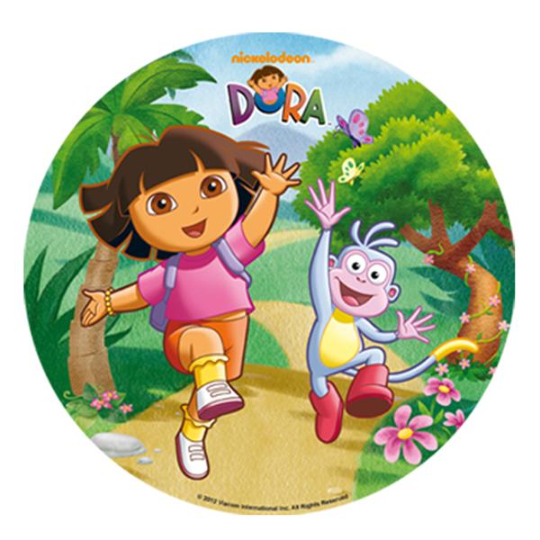 Discos Oblea Dora La Exploradora 3 Mod 20cm Dekora Dora La Exploradora Papel De Arroz Mochila De Mickey Mouse