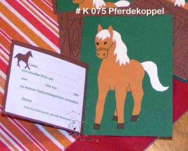 Hier Sind Sie Einladungskarten Pferd Selber Basteln Das War Von