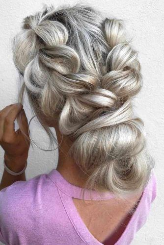 24 Homecoming Hair Styles You Will Not Resist Messy Bun With Braid Hair Styles Homecoming Hairstyles