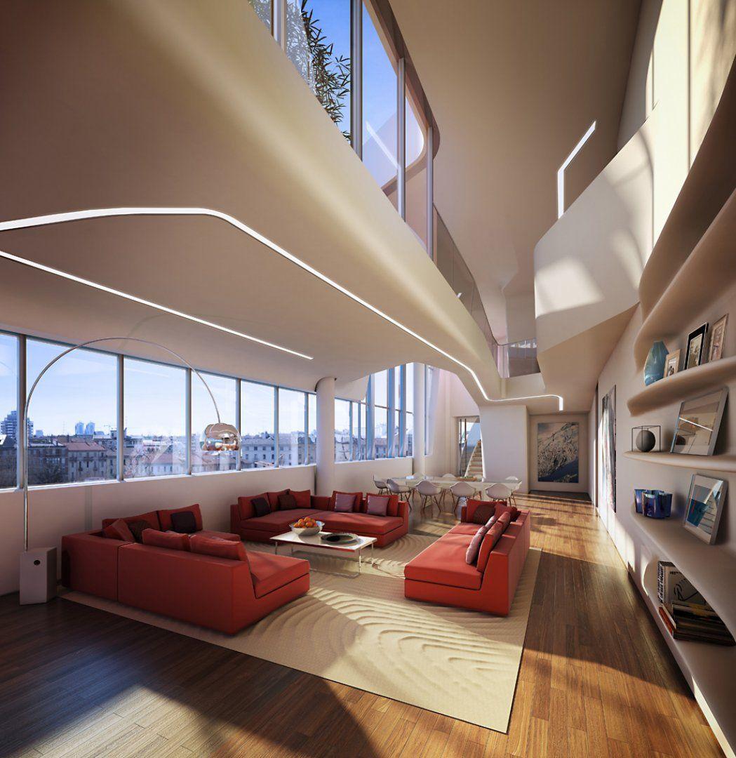 Galeria de em progresso city life mil o zaha hadid for Interior design zaha hadid
