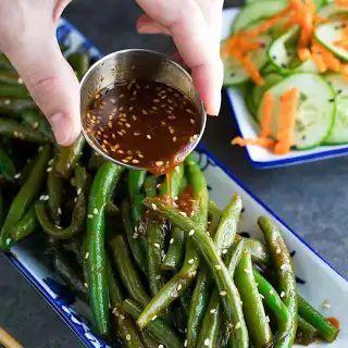 Spicy Sriracha Green Beans,