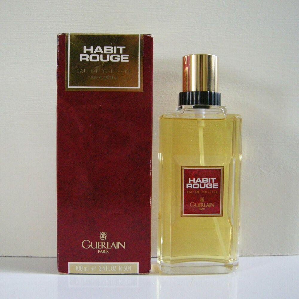 Vintage Habit Rouge By Guerlain Eau De Toilette Spray 3 4 Oz 100ml Full In Box Guerlain Fragrances Perfume Eau De Toilette Fragrance