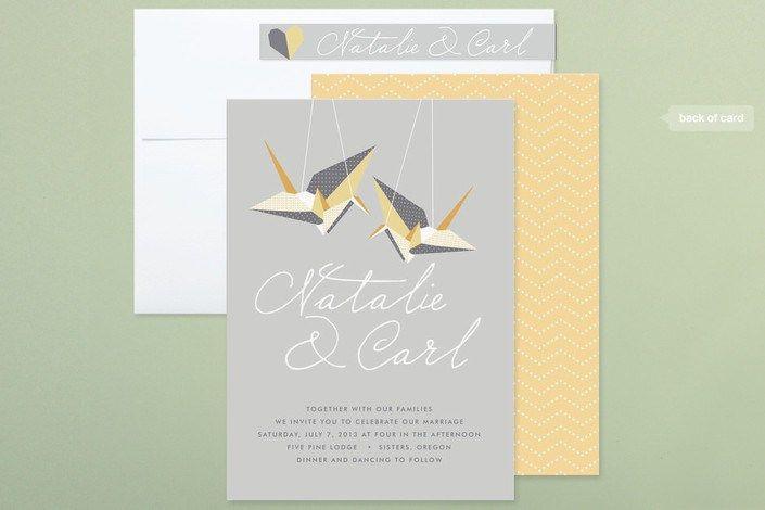 Paper Cranes Wedding Invitation Collection Wedding Invitation Design Paper Crane Wedding Origami Wedding