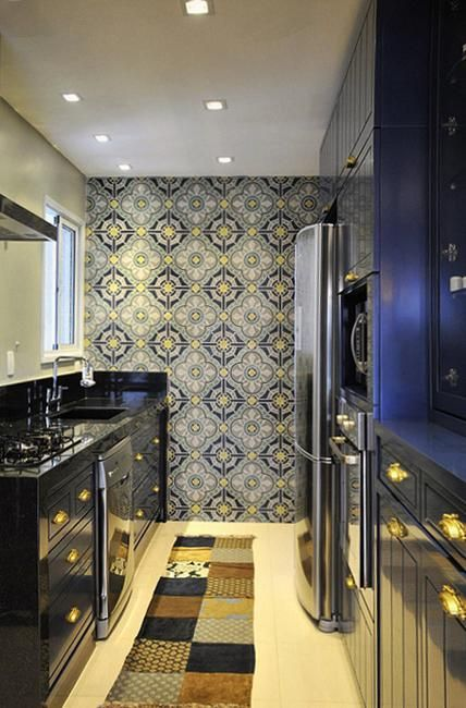 25 Beautiful Kitchen Decor Ideas Bringing Modern Wallpaper Patterns And Colors Modern Kitchen Wallpaper Kitchen Wallpaper Modern Kitchen Design