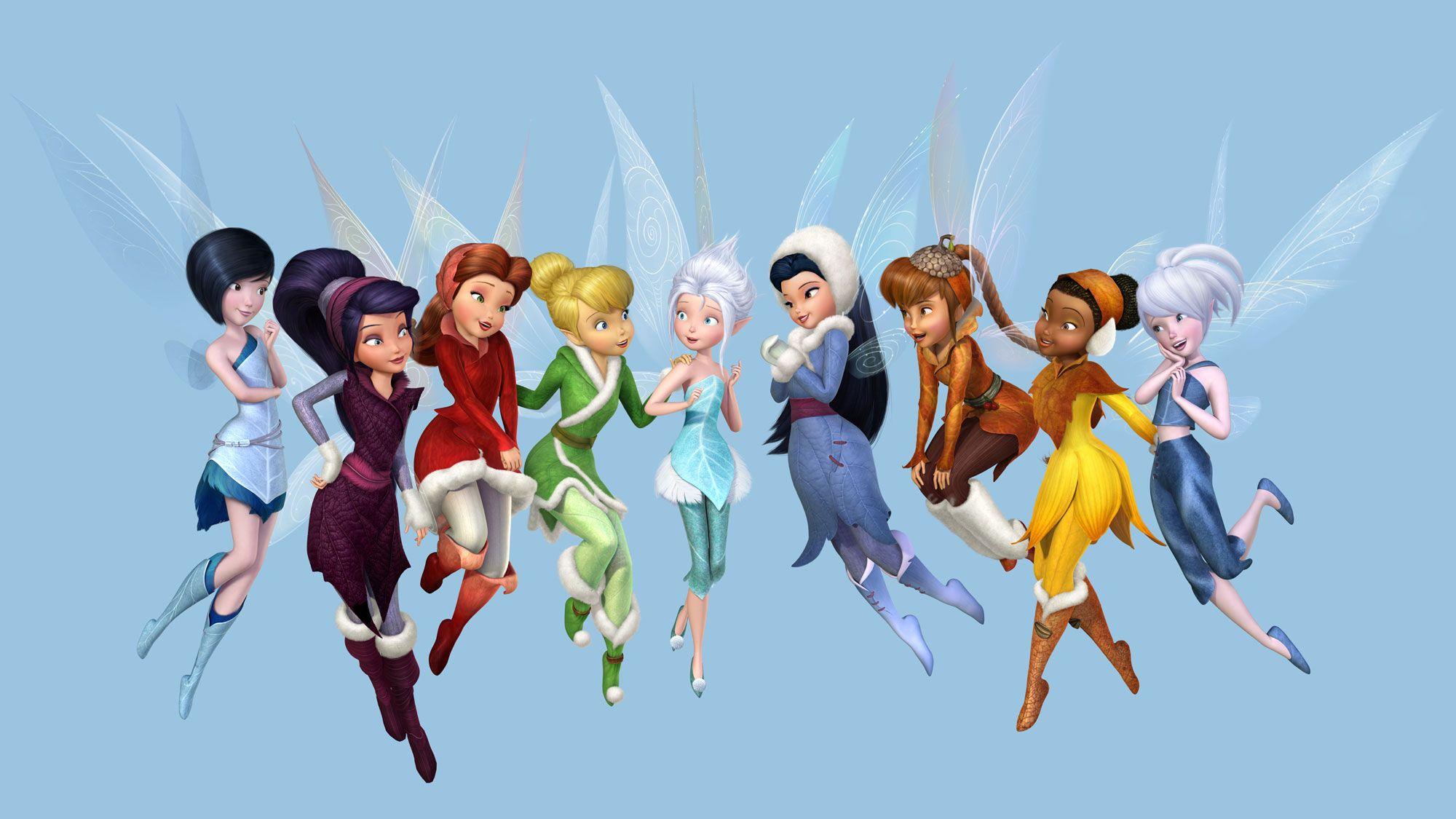 Fee clochette clochette et le secret des f es entour e de ses amies iridessa roselia o - Image de violetta et ses amies ...