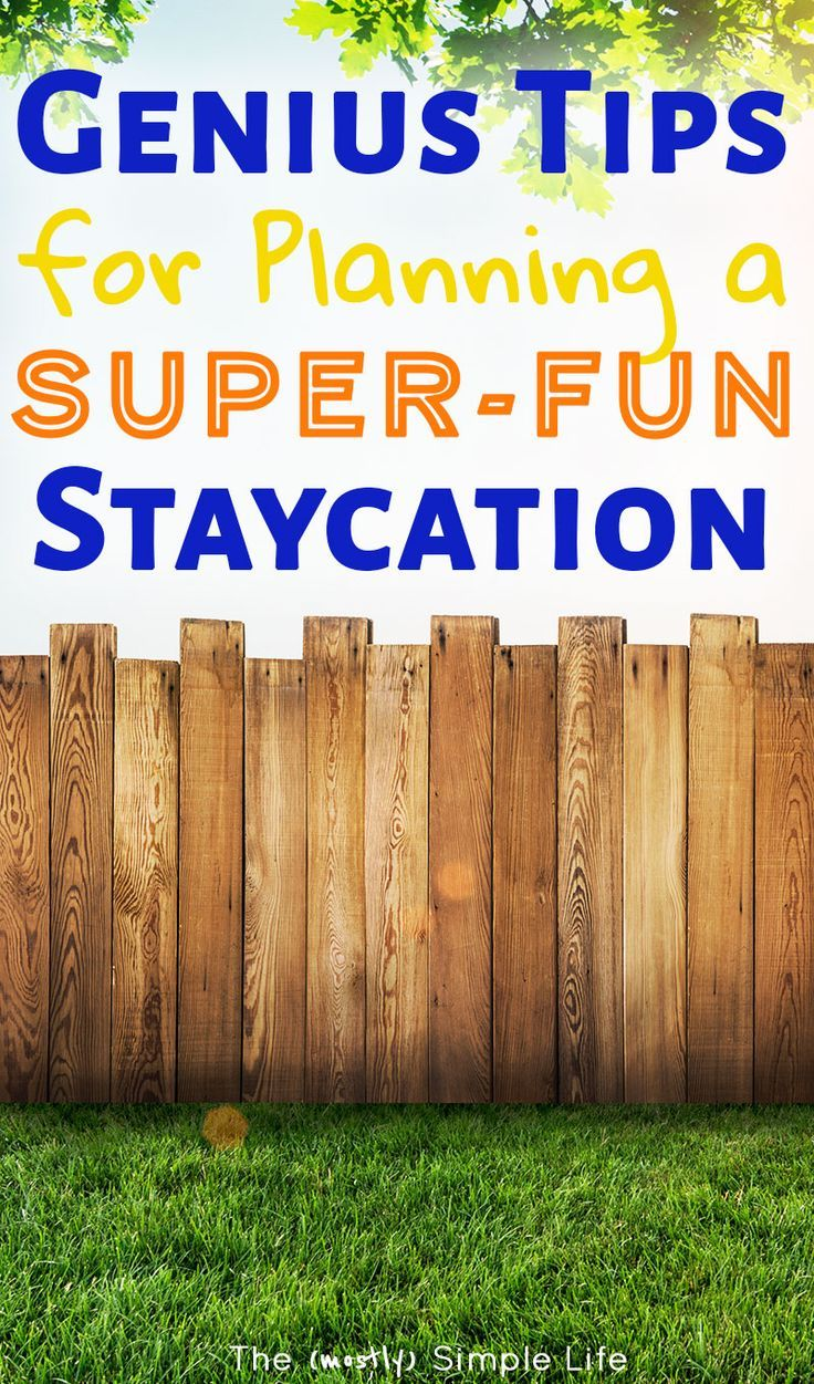 genius tips for planning a super-fun staycation | travel tips and