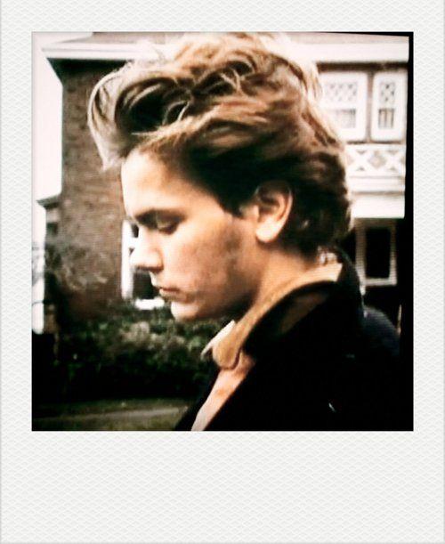 River Phoenix.  His hair!!