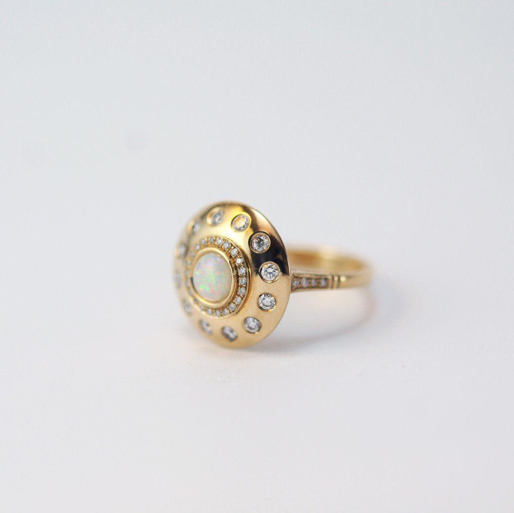 Urobune Princess Ring Black friday Sparkling diamond and Drop