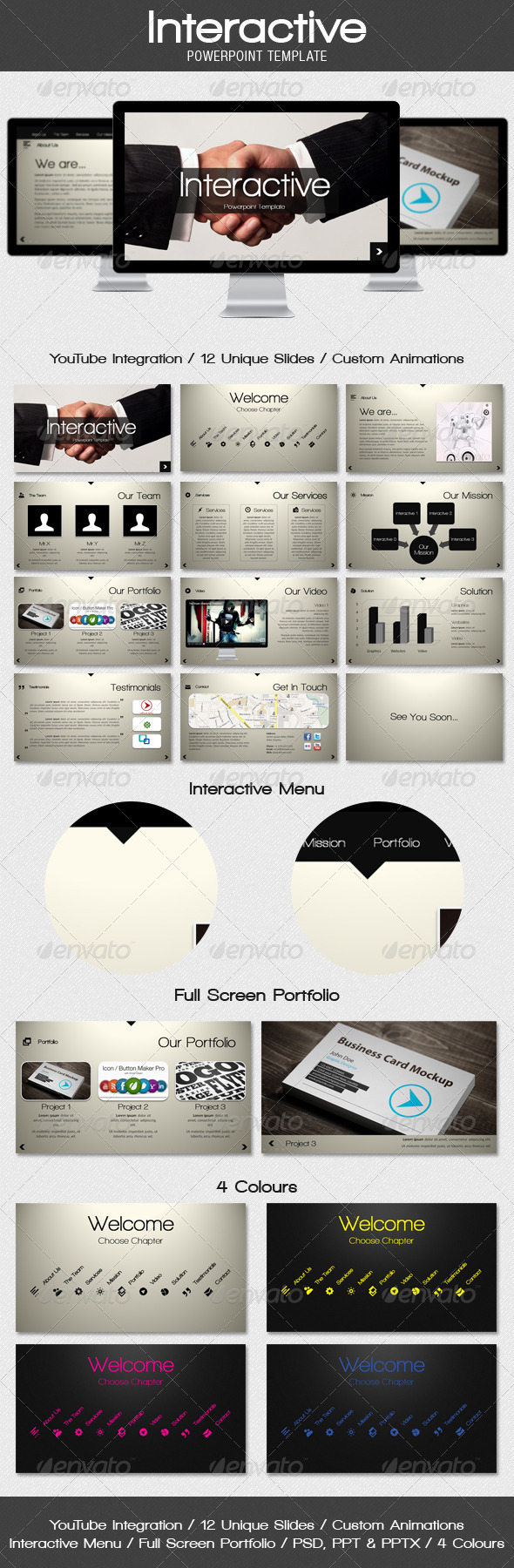 interactive - powerpoint template | template, keynote and ppt design, Interactive Presentation Template, Presentation templates