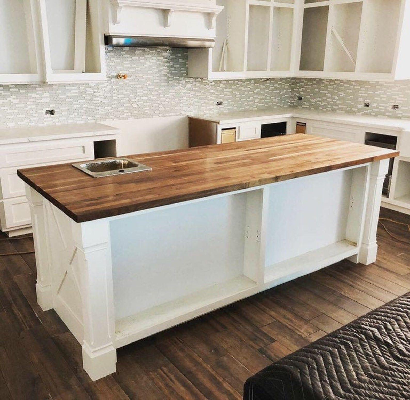 Butcher Block In 2020 Butcher Block Countertops Kitchen Butcher Block Countertops White Cabinets Butcher Block Island Kitchen