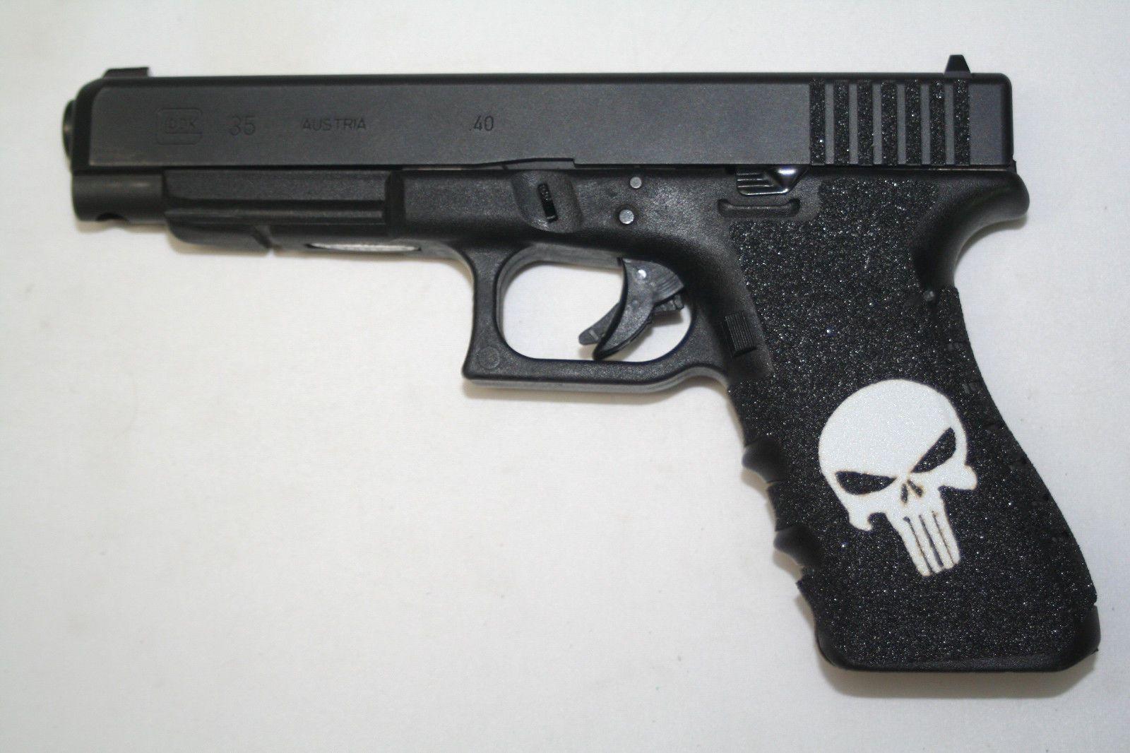 Punisher inlay gun grip tape pistol fits 19 23 25 32 38 handgun punisher inlay gun grip tape pistol fits 19 23 25 32 38 handgun non slip publicscrutiny Gallery