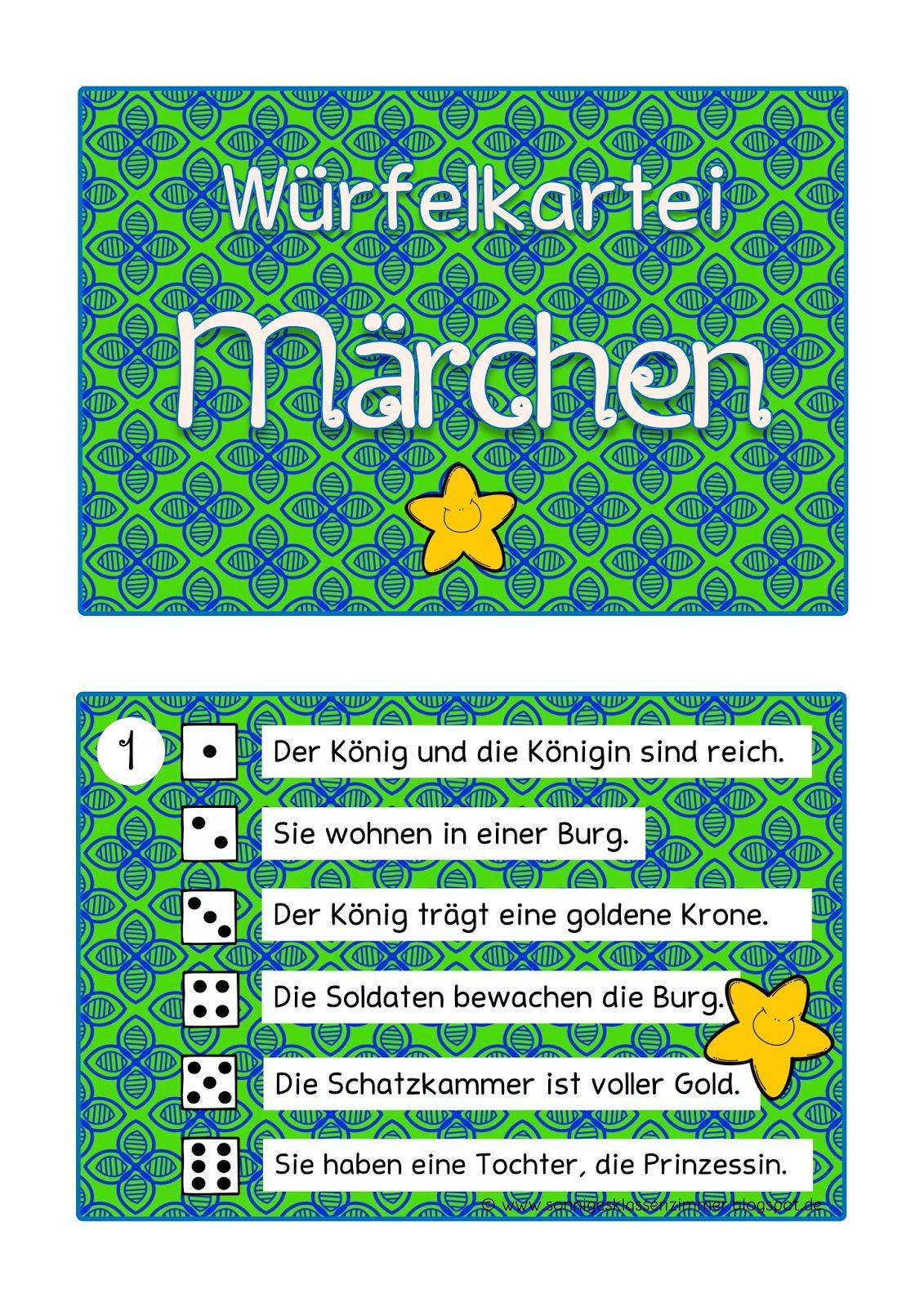 Würfel-Abschreibkartei Märchen Grundschule | 1./2. Klasse ...