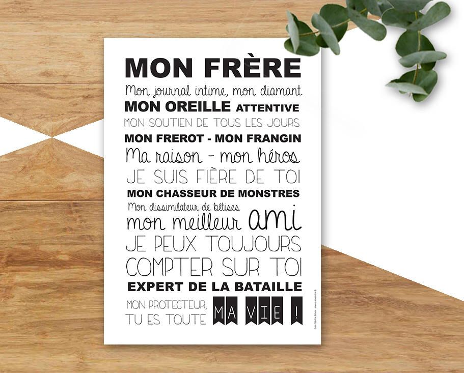 Card For Its Nice Brother Brother Brother Citation Frere Citation Frere Et Soeur Citation Pour Son Frere