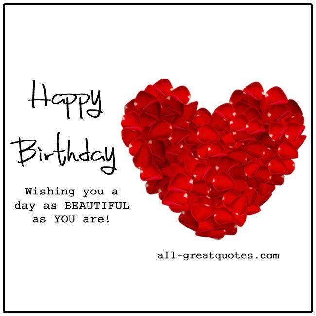 Happy Birthday Cards Love Heart Flowers – Love Birthday Cards