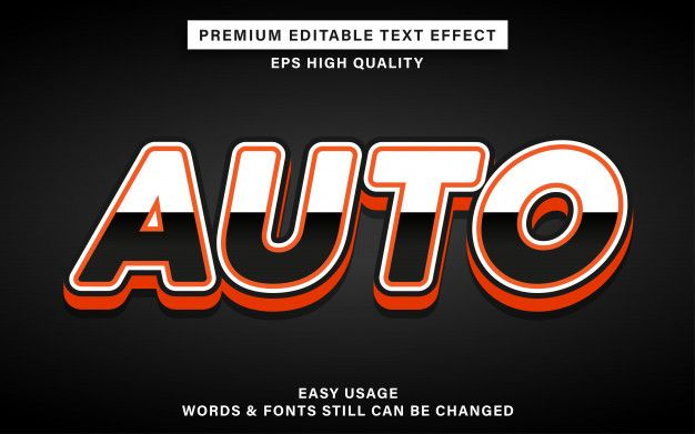 Download Automotive Text Effect in 2020 | Text effects, Word fonts ...