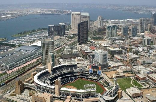 Downtown San Diego from a bird's eye view.