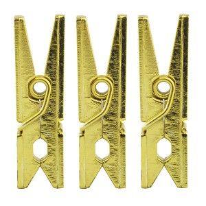 Mini pinces à linge Or métallisé