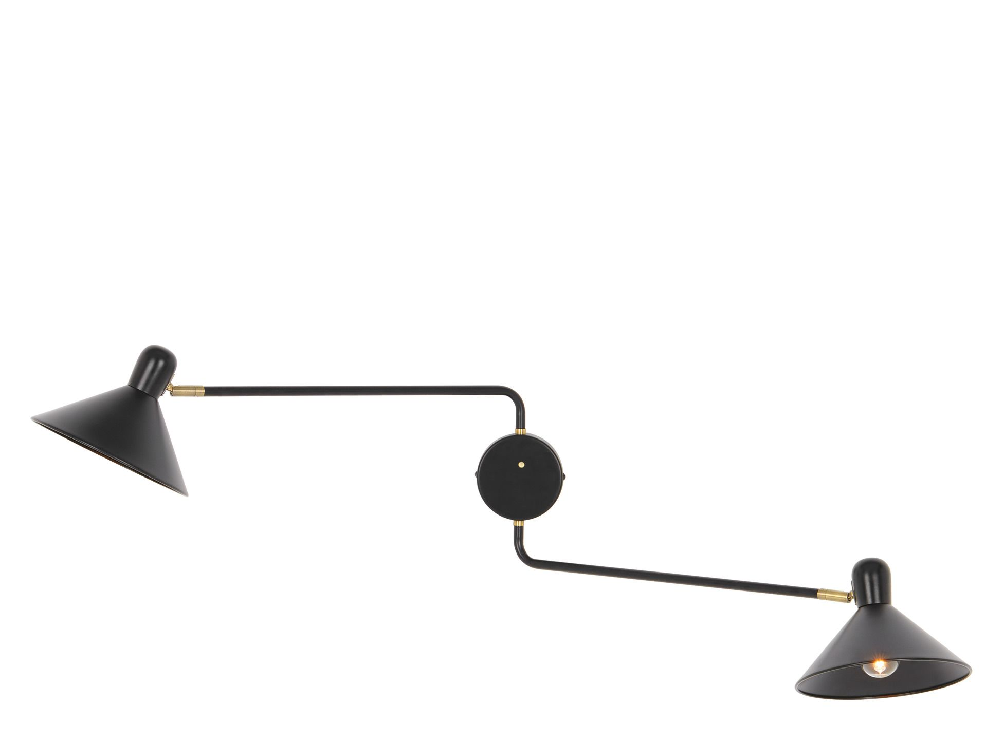 Ogilvy Double Swing Arm Wall Light