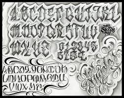 Image Result For Gangster Letter Tattoo Lettering Alphabet