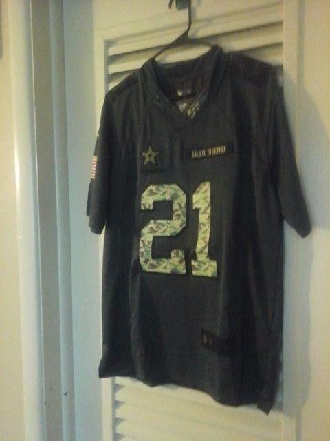low priced 66884 58924 Ezekiel Elliott #21 Dallas Cowboys Salute To Service Jersey ...