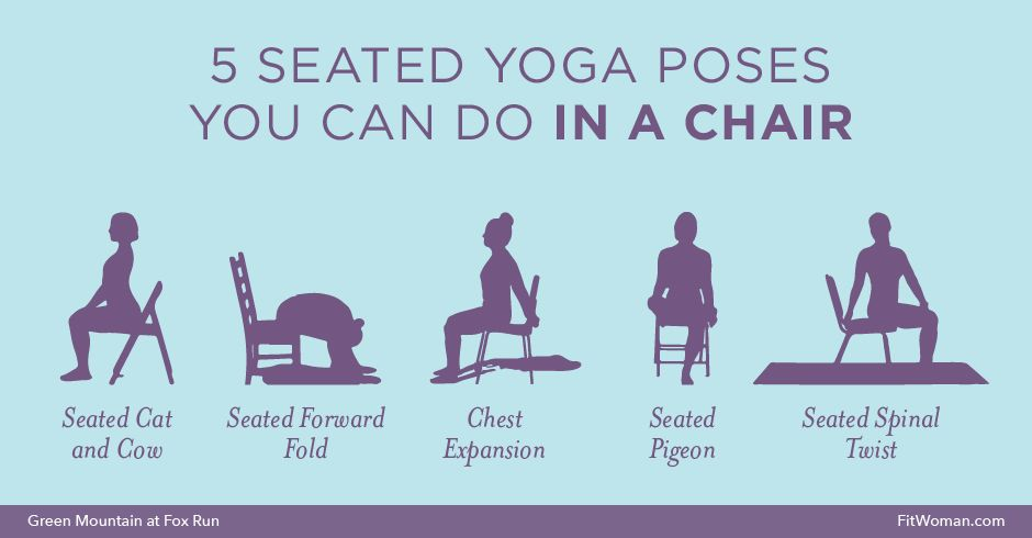 For People Who Are Challenged By Getting Up And Down Off The Floor Those Want A Quick Stretch At Office More Yoga Routines