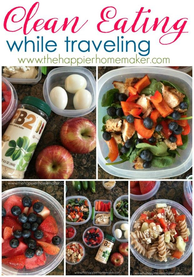 Great tips for eating healthy when you're on the road and meeting your clean eating goals!