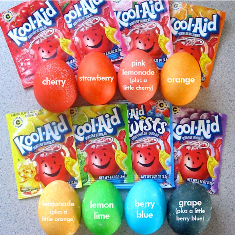 Kool Aid Dyed Eggs Recipe Easter Easter Eggs Easter Fun