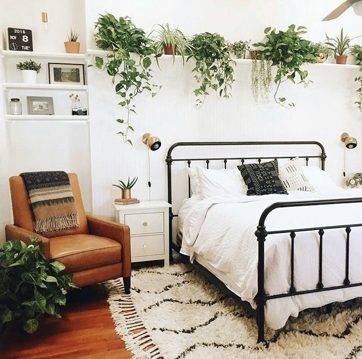 Bedroom With Plants, Retro Style, Vintage In 2019