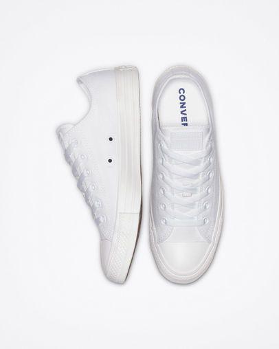Chuck Taylor All Star White Monochrome Low Top Shoe