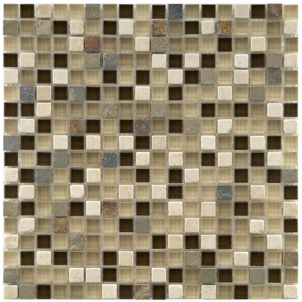 Somertile 11 75x11 75 Inch Reflections Mini Nassau Glass And Stone Mosaic Wall Tile 10 Tiles 9 79 Sqft Mosaic Wall Tiles Stone Mosaic Tile Wall Tiles