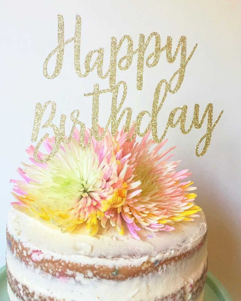 Happy Birthday Glitter Cake Topper By TheLittlePopShop On Etsy