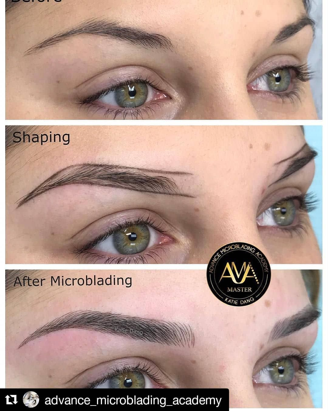 Repost Advance Microblading Academy Get Repost Classic Microblading By Katie Dang Service Trai Register For Classes Permanent Makeup Eyebrows On Fleek