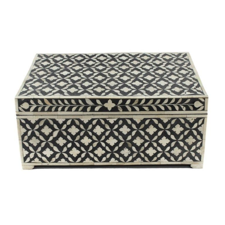 Indian antique handmade bone inlay designer decorative box
