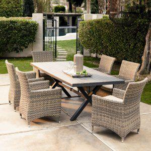 Wicker Patio Dining Furniture In Product Spotlight Wicker Eettafel Stoel Voor Buiten Tuinmeubelen Pinterest