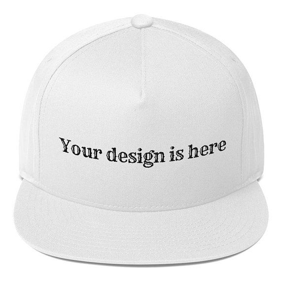 Custom Flat Bill Cap Create your own Flat Bill Cap  8cc38f252f39