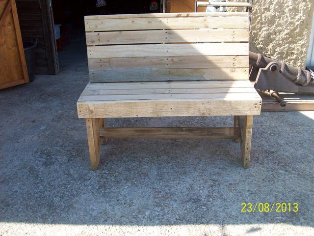 Pallet Bench Ideas Part - 37: You Can Put The Pallet Bench Outside In Your Beautiful Lawn And Enjoy The  Sitting Outside. You Can Also Find Various Ideas For Pallet Benches On  Internet.