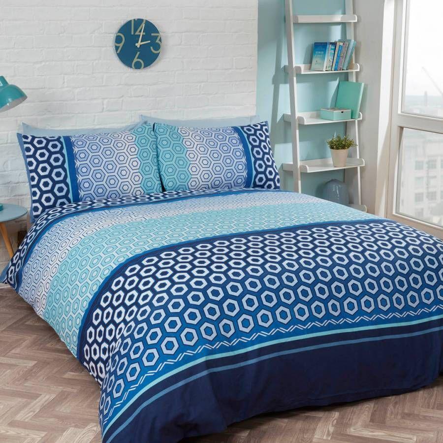 Rapport Barbican Double Duvet Cover Set, Blue Duvet
