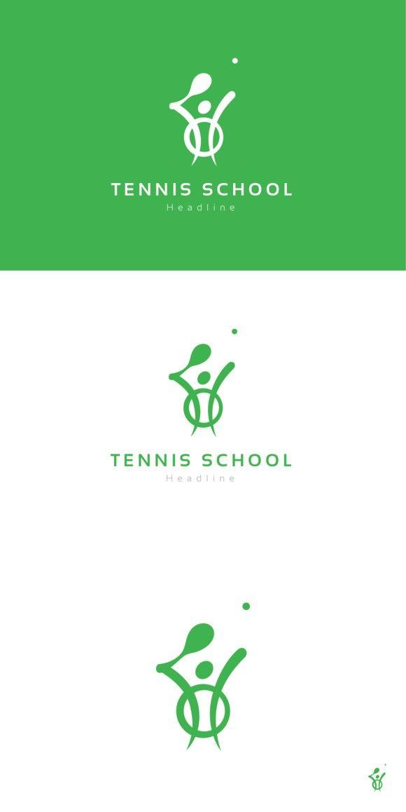Tennis School Logo School Logo Logo Design Creative Logo Templates