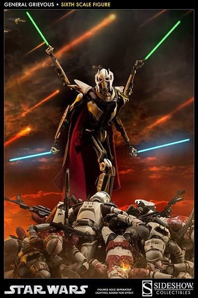 Star Wars General Grievous Sixth Scale Figure By Sideshow Co Sideshow Collectibles Star Wars Villains Star Wars Art Star Wars Images