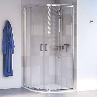Aqualux Edge 6 Quadrant Shower Enclosure Lh Rh Polished Silver 800