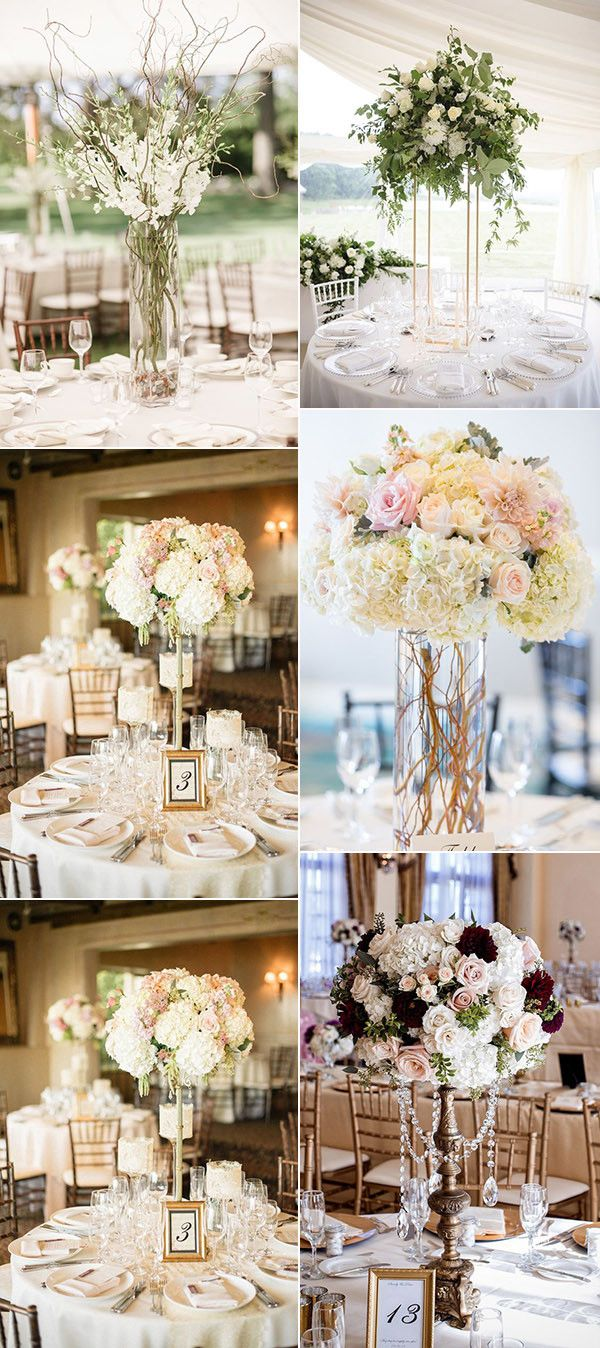 Tall Wedding Centerpieces With Floral For 2017g 6001348